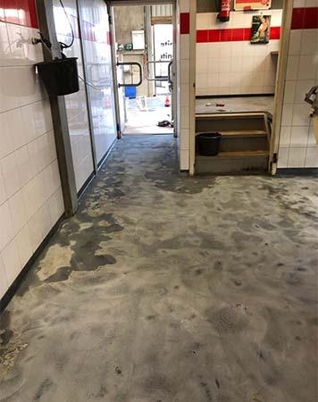 Geprepareerde vloer voor coating