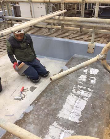 HyCare rundveestal coating voorbereiding