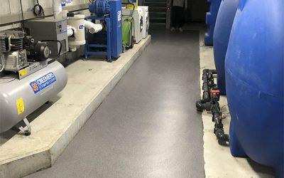 De voordelen van een hygiënische vloer in de robotruimte op de melkveehouderij